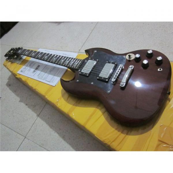 Custom Shop SG G400 Dark Brown Electric Guitar #5 image