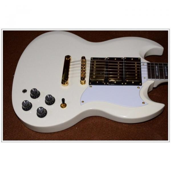 Custom Shop SG Custom Reissue VOS Electric Guitar Classic White #4 image