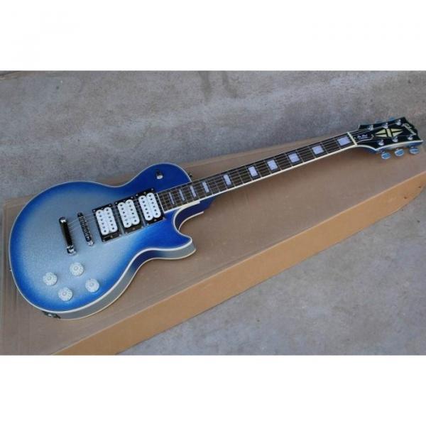 Custom Shop Robot White Blue LP Electric Guitar #1 image