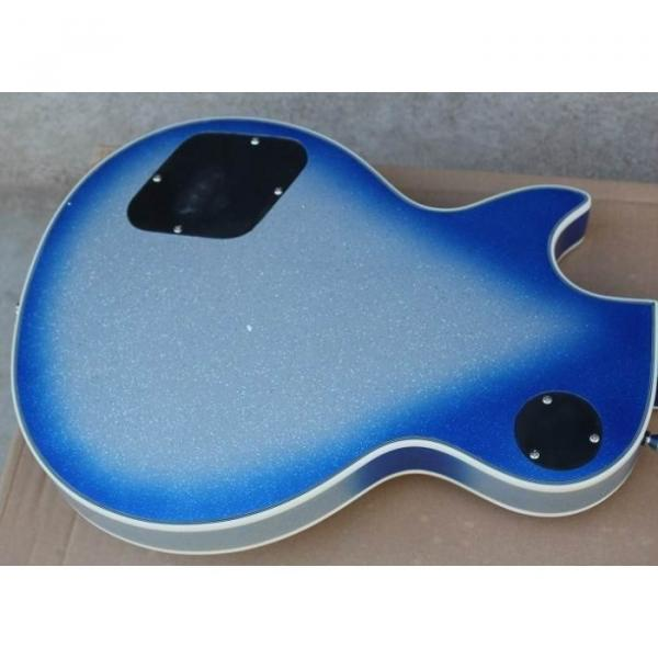 Custom Shop Robot White Blue LP Electric Guitar #3 image