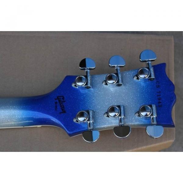 Custom Shop Robot White Blue LP Electric Guitar #4 image