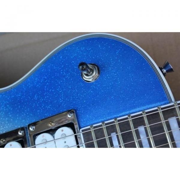 Custom Shop Robot White Blue LP Electric Guitar #5 image