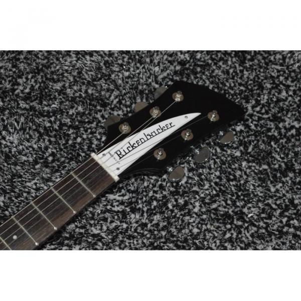 Custom Shop Rickenbacker 325 Jetglo Black 6 String Electric Guitar #4 image