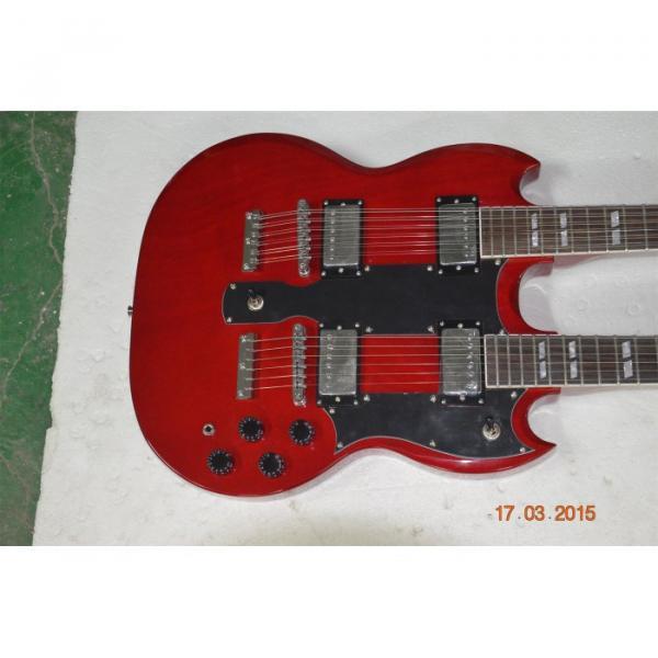 Custom Shop Red Don Felder SG EDS 1275 Double Neck Electric Guitar #1 image