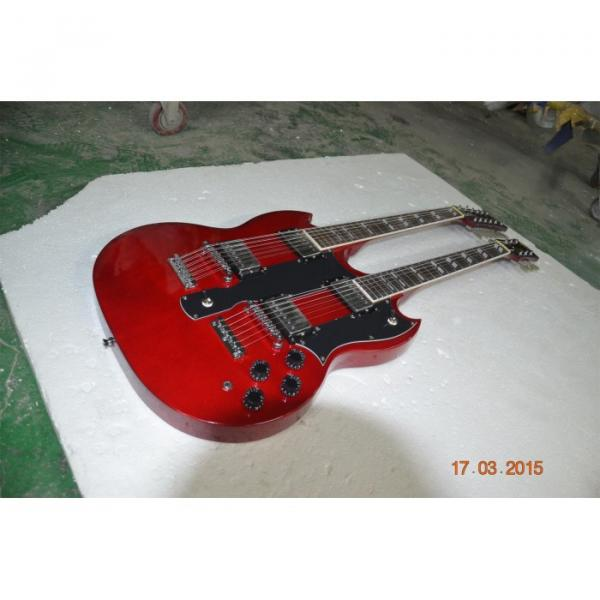 Custom Shop Red Don Felder SG EDS 1275 Double Neck Electric Guitar #2 image