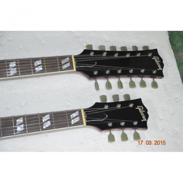 Custom Shop Red Don Felder SG EDS 1275 Double Neck Electric Guitar #5 image