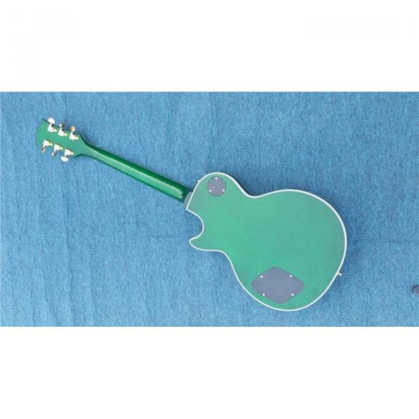 Custom Shop Quilted Maple Top Green Customed Headstock Electric Guitar #4 image
