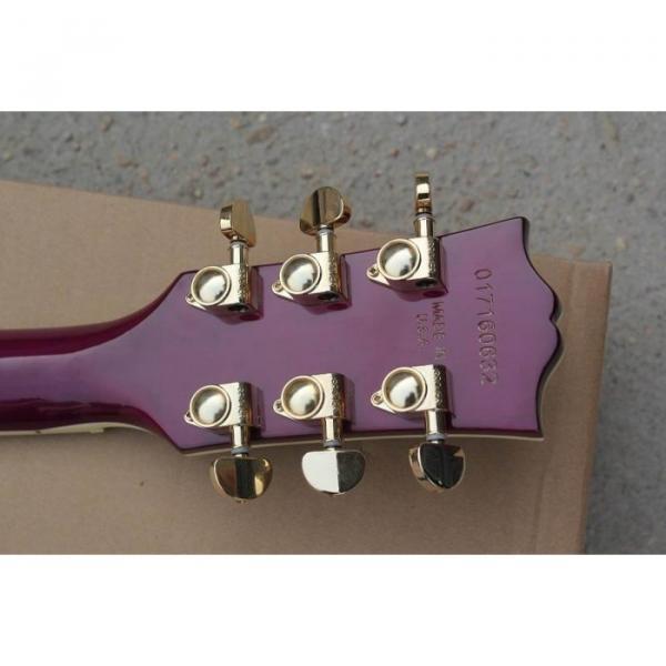 Custom Shop Purple Electric Guitar With Free Hardcase #2 image