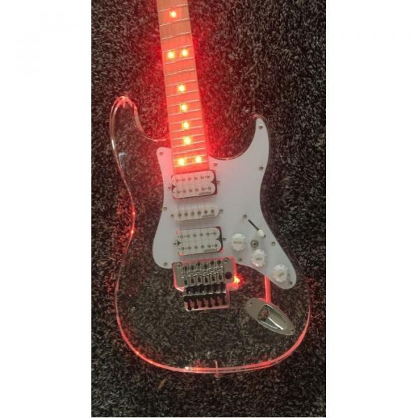 Custom Shop Plexiglass Red LED Acrylic Stratocaster Electric Guitar #1 image