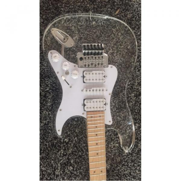 Custom Shop Plexiglass Red LED Acrylic Stratocaster Electric Guitar #3 image