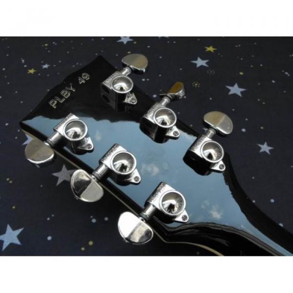 Custom Shop Playboy Fretboard Inlay Black Electric Guitar #3 image