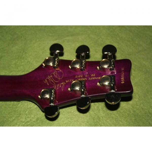 Custom Shop Paul Reed Smith Purple Santana Electric Guitar #3 image