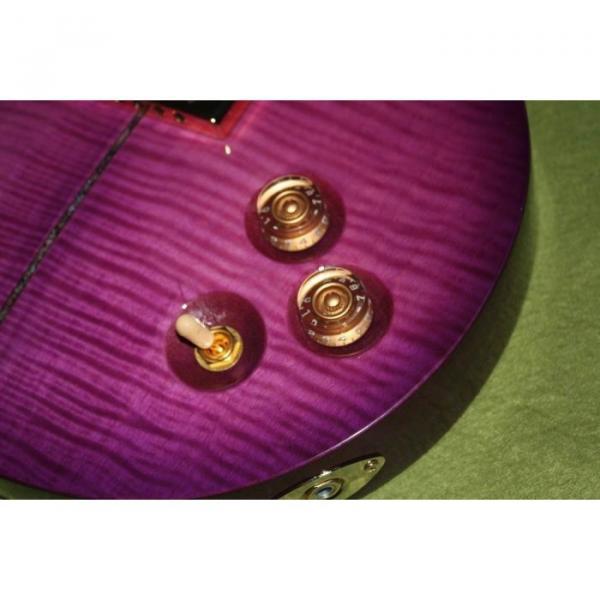 Custom Shop Paul Reed Smith Purple Santana Electric Guitar #4 image
