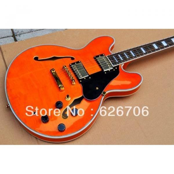 Custom Shop Orange 335 Semi Hollow Jazz Electric Guitar #1 image
