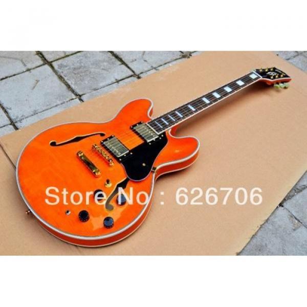 Custom Shop Orange 335 Semi Hollow Jazz Electric Guitar #2 image