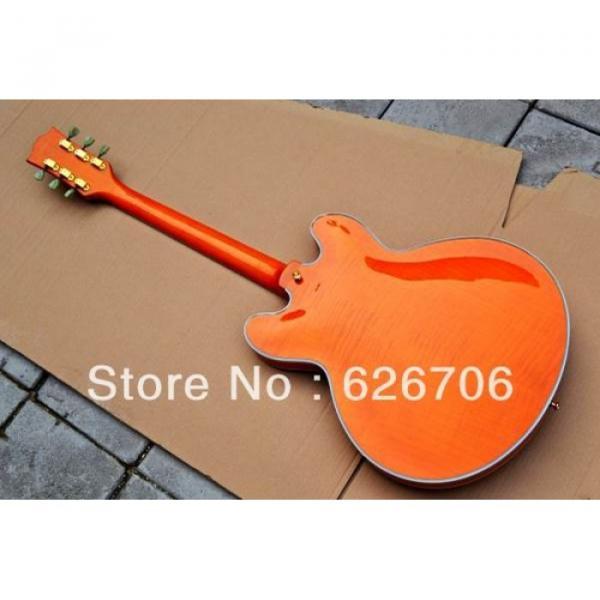 Custom Shop Orange 335 Semi Hollow Jazz Electric Guitar #4 image