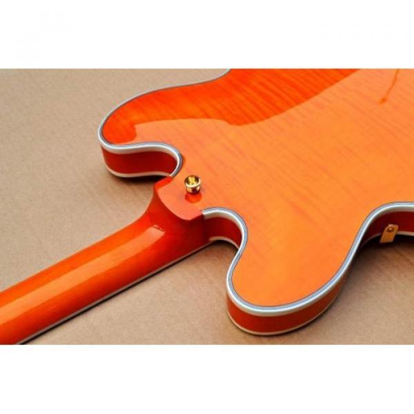 Custom Shop Orange 335 Semi Hollow Jazz Electric Guitar #5 image