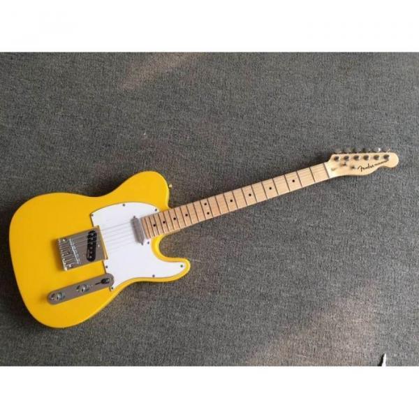Custom Shop Monaco Yellow Telecaster Danny Gatton Electric Guitar #1 image