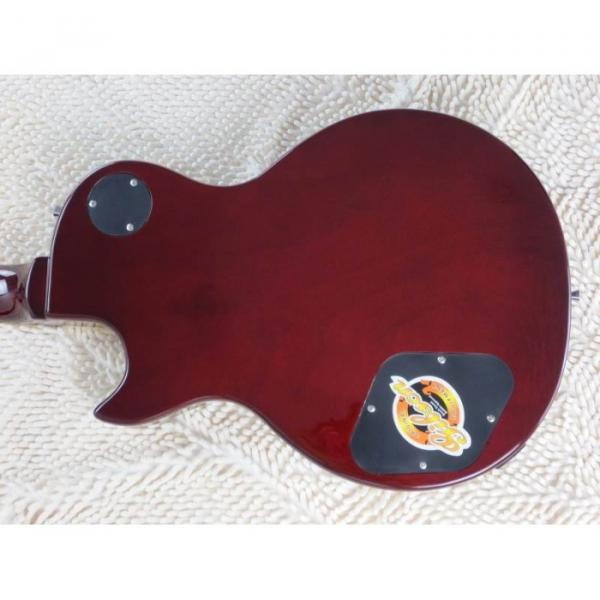 Custom Shop LP Transparent Red Wine Electric Guitar #3 image