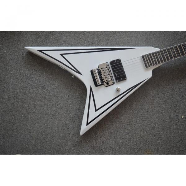 Custom Shop LTD Flying V Alexi Laiho White Electric Guitar #1 image