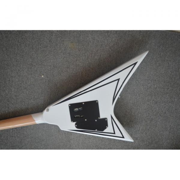Custom Shop LTD Flying V Alexi Laiho White Electric Guitar #2 image