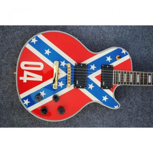 Custom Shop LP Red Flag 04 Confederate Electric Guitar #1 image
