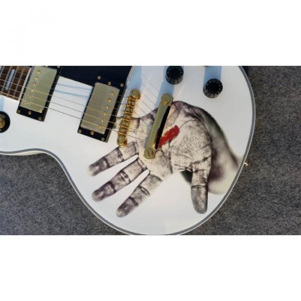 Custom Shop LP Hands On White Electric Guitar #1 image
