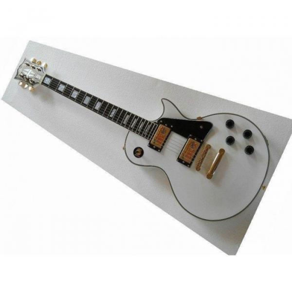 Custom Shop guitarra PEarl White Ebony Fretboard Electric Guitar #1 image