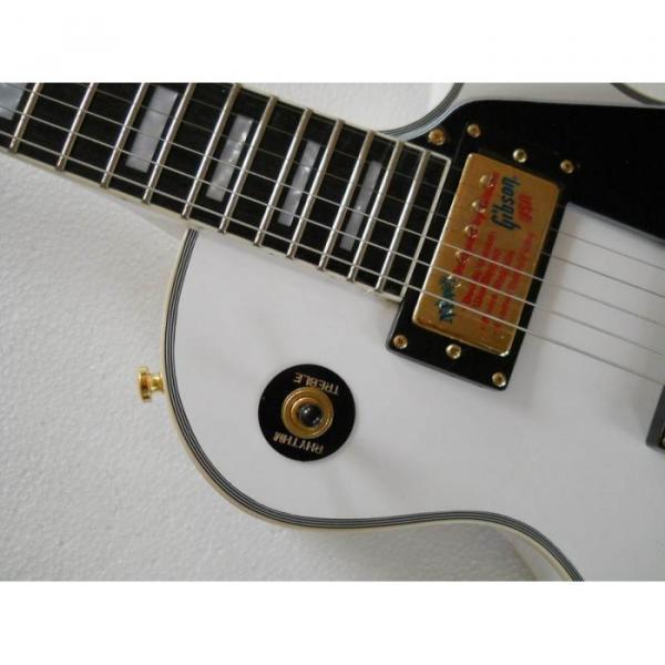 Custom Shop guitarra PEarl White Ebony Fretboard Electric Guitar #4 image