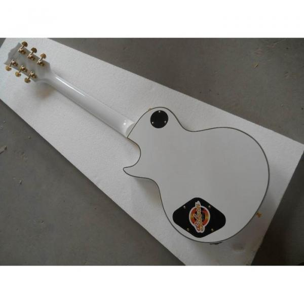 Custom Shop guitarra PEarl White Ebony Fretboard Electric Guitar #5 image
