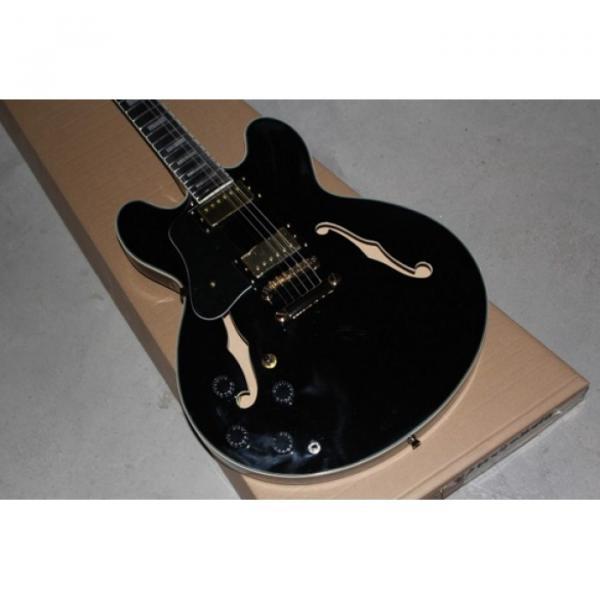 Custom Shop Left Handed Black ES335 ES 335 LP Electric Guitar #1 image