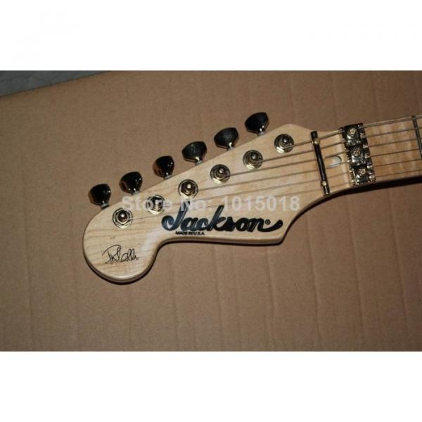Custom Shop Left Hand Jackson SL2H Soloist Blue Ripples Electric Guitar #2 image