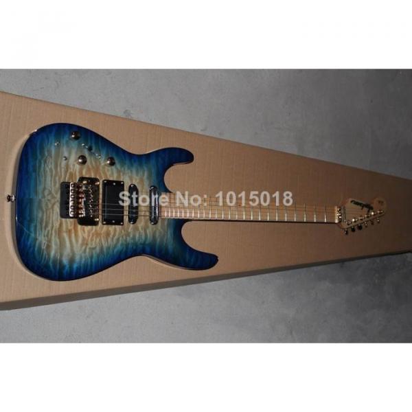 Custom Shop Left Hand Jackson SL2H Soloist Blue Ripples Electric Guitar #3 image