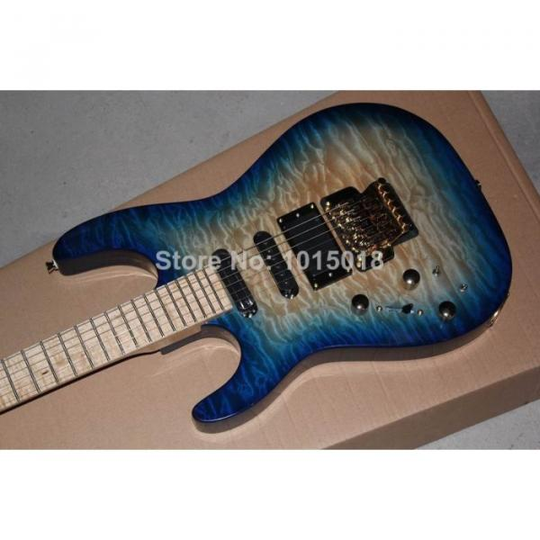 Custom Shop Left Hand Jackson SL2H Soloist Blue Ripples Electric Guitar #4 image