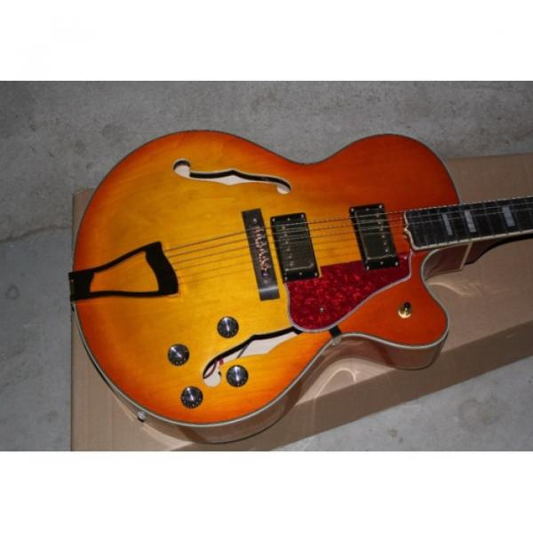 Custom Shop L5 Fhole Cherry Sunburst Jazz 6 String Electric Guitar #1 image