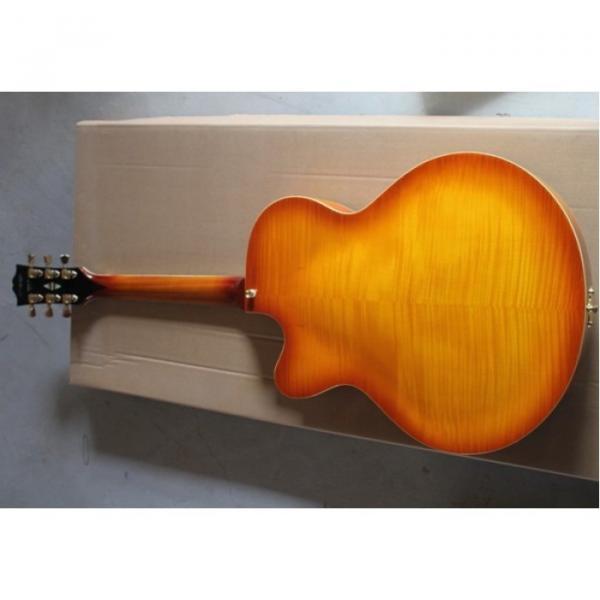 Custom Shop L5 Fhole Cherry Sunburst Jazz 6 String Electric Guitar #3 image
