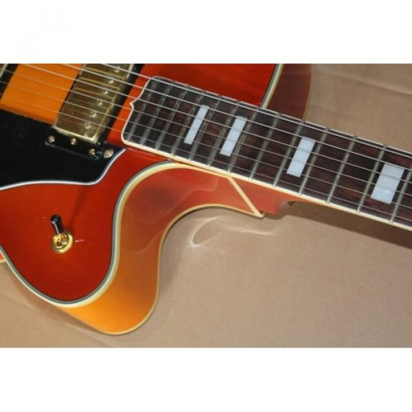 Custom Shop L5 Fhole Cherry Sunburst Jazz 6 String Electric Guitar #4 image