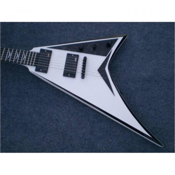 Custom Shop Jackson White Black Electric Guitar #1 image