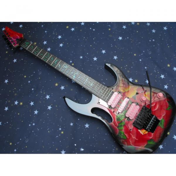 Custom Shop Ibanez Red Flower Electric Guitar #1 image