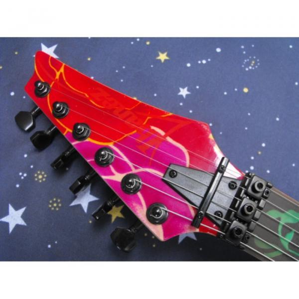Custom Shop Ibanez Red Flower Electric Guitar #3 image