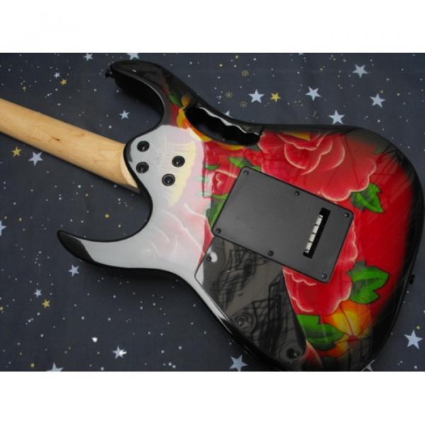 Custom Shop Ibanez Red Flower Electric Guitar #4 image