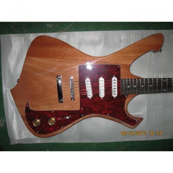 Custom Shop Ibanez Natural Gloss Paul Gilbert Electric Guitar #1 image