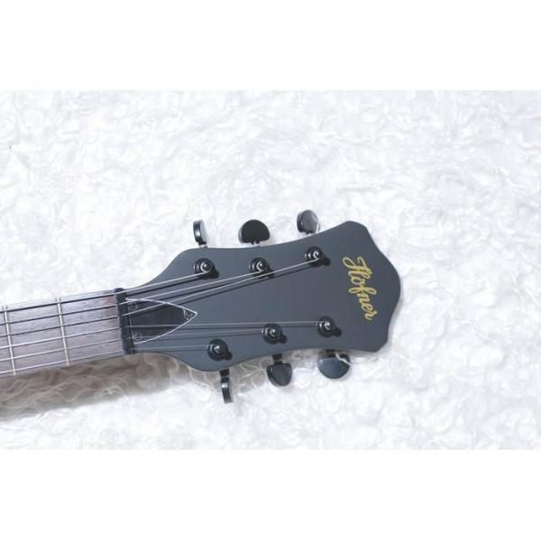 Custom Shop Hofner Fhole Walnut Brown Electric Guitar #2 image
