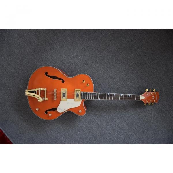 Custom Shop Gretsch Orange Falcon Nashville Jazz Electric Guitar #1 image