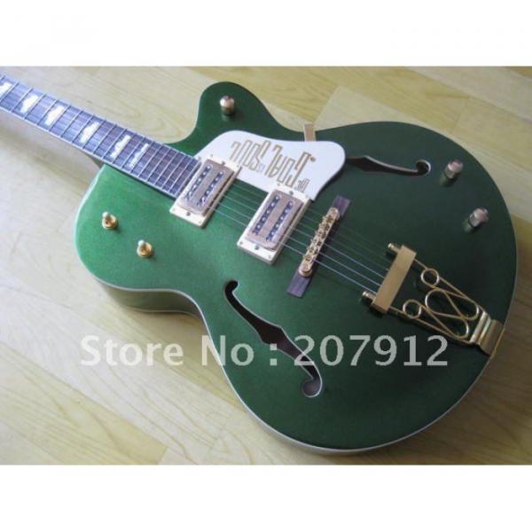 Custom Shop Green Gretsch Nashville Electric Guitar #1 image