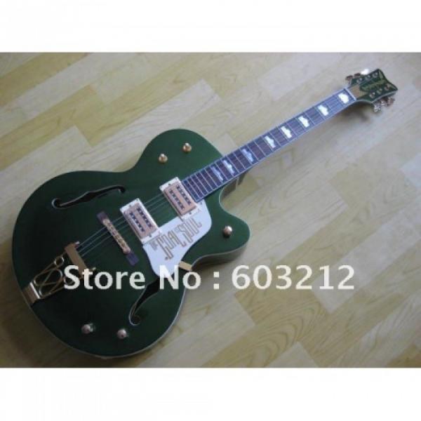 Custom Shop Green Gretsch Nashville Electric Guitar #3 image
