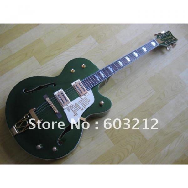 Custom Shop Green Gretsch Nashville Electric Guitar #4 image