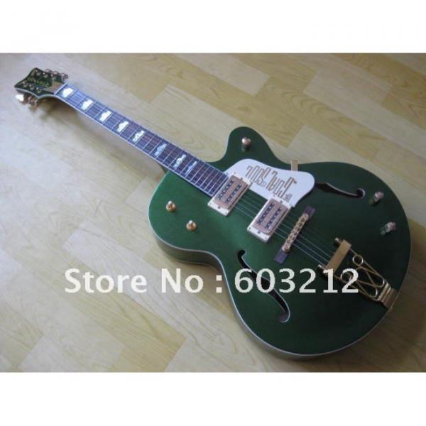 Custom Shop Green Gretsch Nashville Electric Guitar #5 image