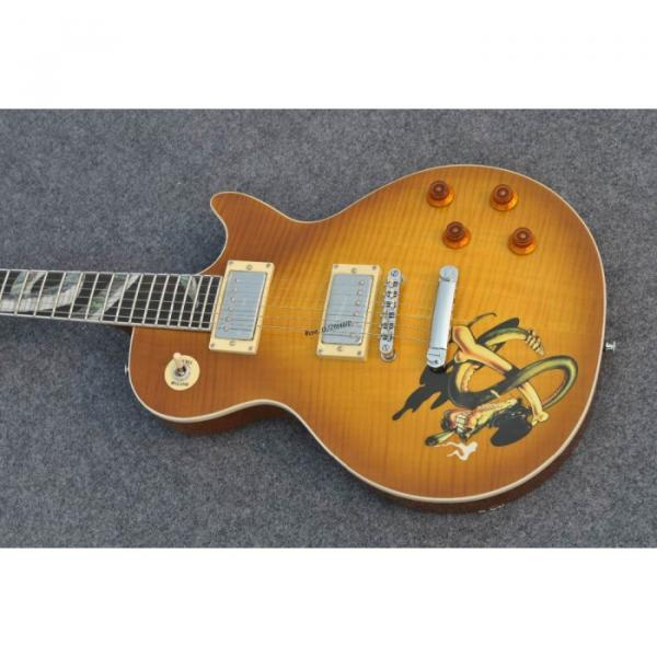 Custom Shop Golden Abalone Snakepit Slash Inlay Fretboard Electric Guitar #1 image