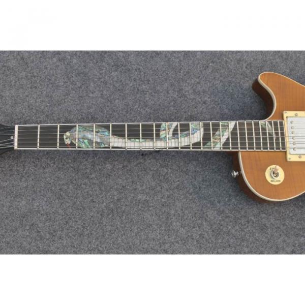 Custom Shop Golden Abalone Snakepit Slash Inlay Fretboard Electric Guitar #2 image
